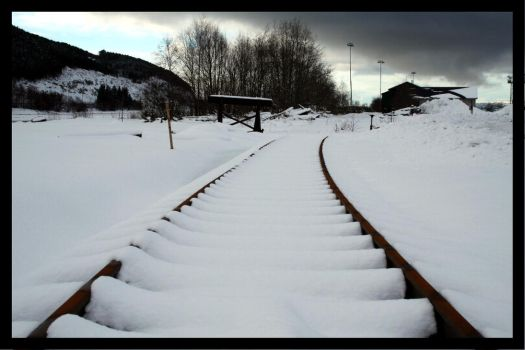 Snow covered tracks... by Windsfantasy