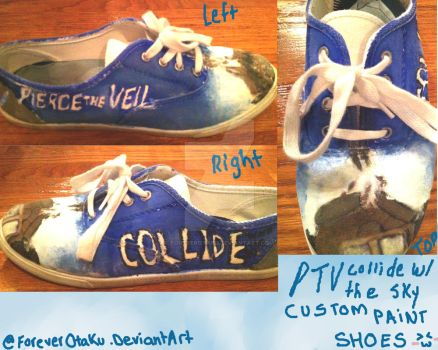 Custom Collide With The Sky Canvas Shoes by ForeverOtaku