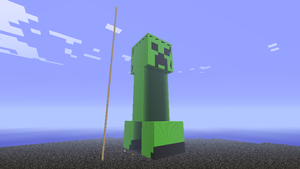 4x scale wool creeper statue by Tryzon