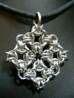 chainmaille medallion by BacktoEarthCreations