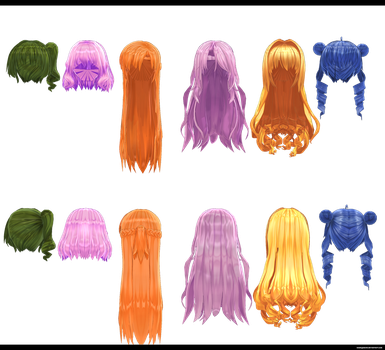 Random Hair Pack by kaahgomedl