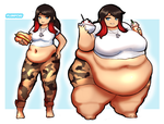 Chubby to Obese - Victoria by Plumpchu
