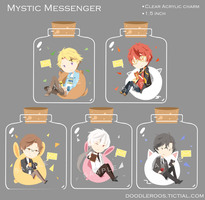 Mystic Messenger Charms by doodleroos