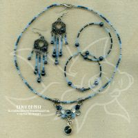 Blue and hematite set by spaceship505