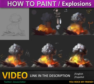 How to paint Explosions tutorial by JesusAConde