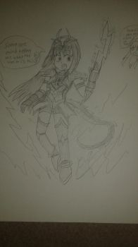 Tania Saad, get equipped with: Seiryuu armor!! by LordZerotheMighty