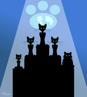 The Sinister Cat Council by TheUnisonReturns