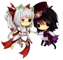 [Comm] Leshia and Varale cheebs by Hachiimi