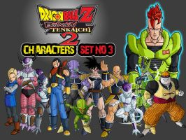 Dragon Ball Z Characters Set3 by The-Lonely-Wolf