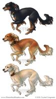 Breed Stickers- Saluki by soulofwinter