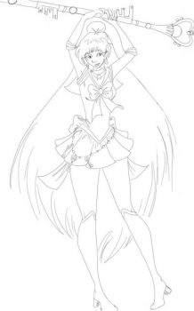 Day 24: Sailor Pluto Lineart by Lyscinia
