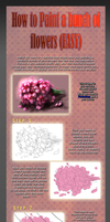 Tutorial: How to paint realistic flowers Easy Way. by Lairam