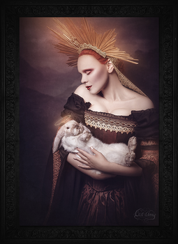 Holy Madonna with bunny by LilifIlane