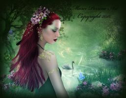 Dryad in Spring by marphilhearts