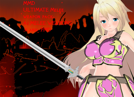 MMD ULTIMATE Melee weapon pack 42 MELEE WEAPONS DL by amiamy111