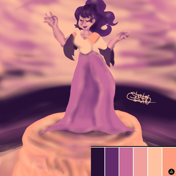 Colour Scheme Challenge:FountainMaid(Amethysthour) by ShadowSwirl