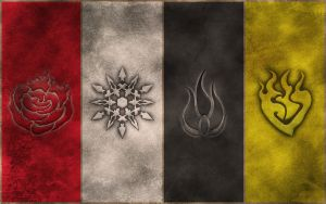 RWBY Symbols wallpaper by crypticspider