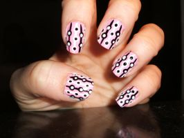 Black, White n Baby Pink by lettym