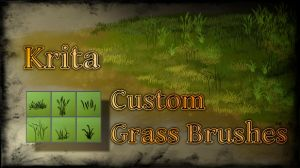 Krita - Custom Grass Brushes by xGreatCthulhux