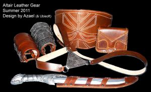 Altair Costume Leather Gear by Azael047