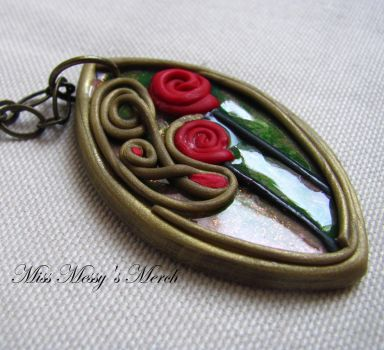 Art Deco inspired pendant by kolkrisz
