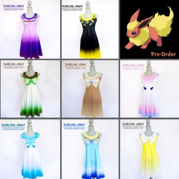 Sailor Scout Eeveelutions Pokemon Cosplay Dress by DarlingArmy
