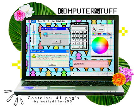 + Computer Stuff  |42 png's| by natieditions00