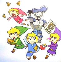 4 Toon Link by YamiCecile