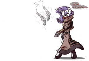 Rarity trenchcoat Sketch by Wreky