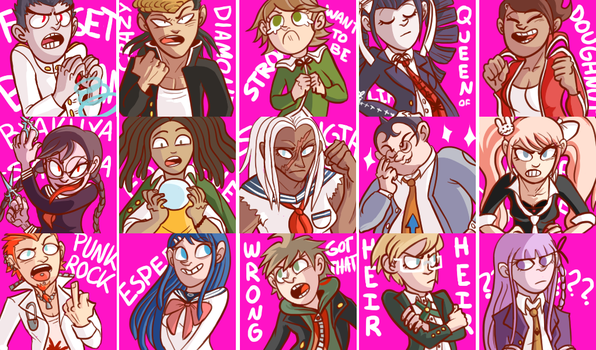 Dangan Ronpa icons by CrescentMarionette