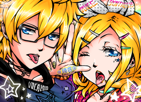 Colorful - Rin and Len Kagamine Vocaloid by rher002