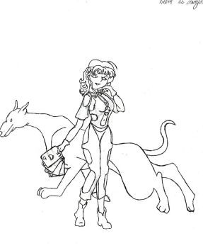 Relm as Lady Luck -uncolored by Trelweny