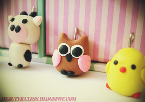 Polymer Clay Charms by NLCNSDW