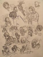 Avengers Sketch Dump 1 by hakura-lives