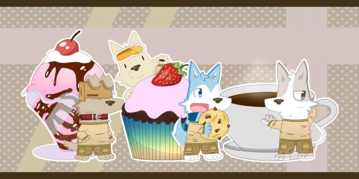 Chibi Desserts Dogs by Asumo-1