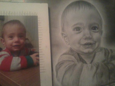 my cousin's son By Mishi Art-d8iuxm2 by mishi-art