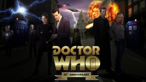 Doctor Who 50th Anniversary Poster by CPD-91