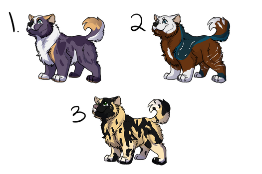 Puppy Adopts 3/3 OPEN by FrostedAdopts