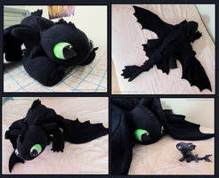 :: Toothless Plush :: by Fallenpeach