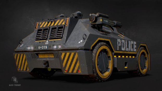 Police APC Concept (Rear) by Bloodstability