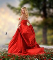 The Lady In Red.. by Alz-Stock-and-Art