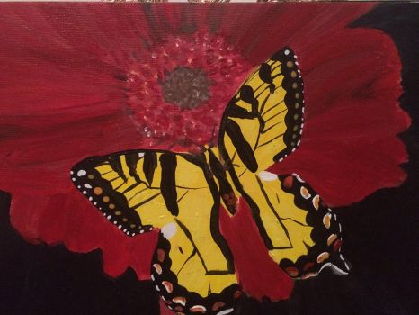 Butterfly Series #4 in Acrylic by ArtisticPaintbrush