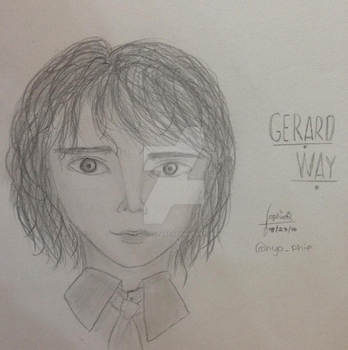 Gerard Way Fanart by PoppingTart