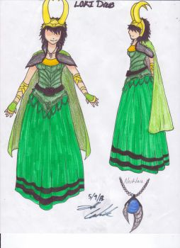 Loki dress by DemonKing113