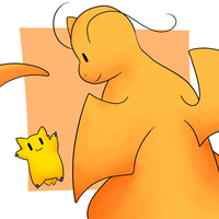 Dragonite and Joltik by LexisSketches