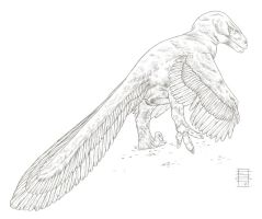 #UtahraptorWeek A Giant Stretching by Smnt2000