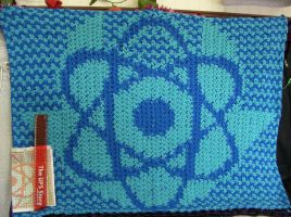 Crochet Blanket - Atomic Beque by digidiskette