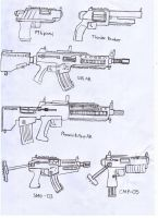IRS Weapons Sheet (Service pistols, ARs and SMGs) by Target21