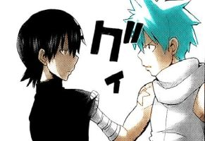 Kid x Black Star - Colored by haunted-requiem