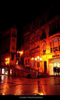 Coimbra at night by ClairutPhotography